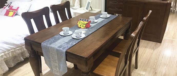 茉莉花香家具生活馆店面升级家具清库存,实木餐桌仅2680!
